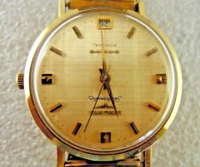 Vintage 10K Gold Filled Longines Admiral 5 Star Automatic Watch Stunning Dial