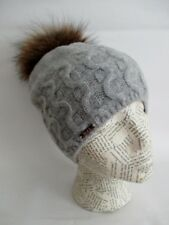 Cashmere Cable Hat with Detachable Genuine Fox Fur Pom