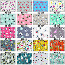 PUL BABY WATERPROOF COTTON FABRIC DIAPERS COVER NAPPY BIBS BAG TABLETOP OILCLOTH