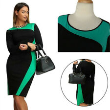 Long Sleeve Dress Women's Round Neck Large Size Dress Trendy Two Colors