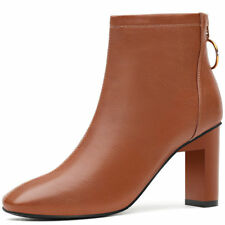 Girls Womens Pointed Toe Platform High Heel Ankle Boots Shoes Zip Buckle