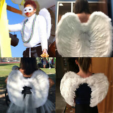 White Angel Feather Wings Cosplay Fancy Dress Costume Adults Kids Christmas Gift