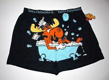 """NWT Rocky & Bullwinkle """"Slippery when wet"""" soft cotton Boxer Shorts for Men,M,XL"""