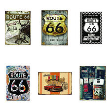 IM- US Route 66 Highway Road Historic Metal Tin Sign Plaque Home Wall Decor Nove