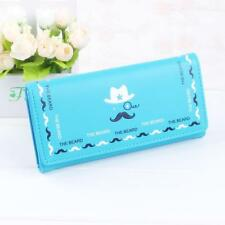 turquoise other Moustache Credit Card Checkbook Organizer Lady Wallet Clutch
