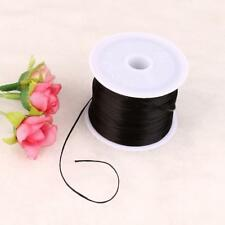 0.8mm 60M Transparent Stretch Elastic Line Beading Cord String Spool New Black