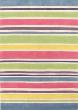Pastel Coloured Stripes Children's Rug
