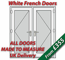 White uPVC French Doors  **Made to Measure** White handles, Silver spacer bars