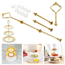 2/3 Tier Cake Cupcake Plate Stand Handle Hardware Fitting Holder Silver Crown