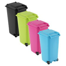 Mini Wheelie Bin Desk Tidy Office Desktop Stationery Organiser Pencil Holder OS