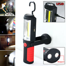 4in1 Rechargeable Work Light COB LED Torch Flashlight Magnetic Power Bank Lamp