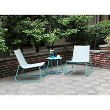 Wicker Furniture Bistro Set Outdoor Weather Resistant Handmade 3Pcs Chairs Table