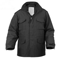 M-65 FIELD JACKET ROTHCO , BLACK - BRAND NEW  / WITH LINER    SMALL /  Regular