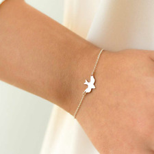 Tiny Peace Dove Bracelet Charm Design Women Cute Soar Swallow Abstract Bracelets