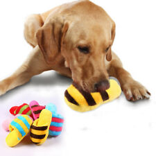 Hot Dog Pet Cat Toy Puppy Chew Squeaker Squeaky Plush Sound  Slipper Toys