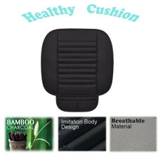Car Front Seats PU Leather Bamboo charcoal Cushion Non-Slip Seat Protector Mat