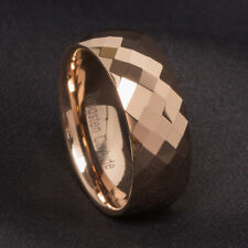 8MM Rose Gold Tungsten Carbide Ring Men's Wedding Engagement Band Jewelry Sz7-13