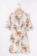 New Womens Ladies Floral Print V Neck Ruffled Short Sleeve Mini Dress