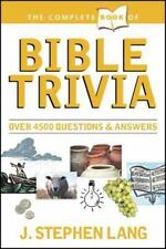 The Complete Book of Bible Trivia by Lang, J. Stephen Paperback Free Shipping