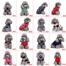 New1 Pet Warm Dog Cat Jacket Coat Puppy Clothes Winter Sweater Christmas Apparel