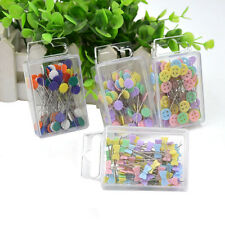 100X Patchwork Pins Flower Button Head Pin DIY Quilting Tool Sewing Accessories~