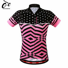 Women Cycling Jersey Summer Shirt Short Sleeve Breathable Tops MTB Bike Bicycle