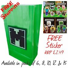 Minecraft themed Birthday party bags with FREE J!NX sticker