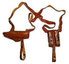 Miami Vice Leather Horizontal Shoulder Holster for GLOCK RH Black or Brown