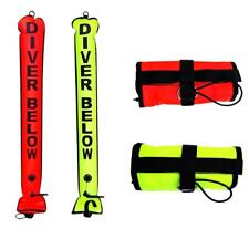 4FT Scuba Diving Snorkel SURFACE MARKER BUOY SMB Safety Diver Below Signal Tube