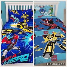 Transformers Disguise and Hero Single Double Bedding Set Duvet Cover