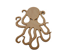 Octopus Laser Cut Out Wood Shape Craft Supply - Unfinished