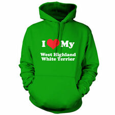 I Love My West Highland White Terrier - Unisex Hoodie / Hooded top - Dog - Puppy