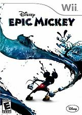 Disney Epic Mickey - [Nintendo  Wii Game 2010] Rated E For EVERYONE