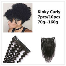 New Mongolian Afro Kinky Curly Clip In Human Hair Extensions 7pcs 10pcs set
