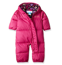 COLUMBIA girls 18/24 18-24 SNUGGLY BUNNY BUNTING SNOWSUIT DOWN INSULATED WARM!!