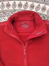 MUSTO - Red - Zip Up - Two Pocket - Fleece Jacket - Size M