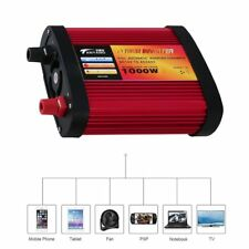 Car Power Inverter DC12V to AC240V with 2 USB Ports+AC Outlet 300W/500W/1000W 5@