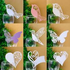 Table Wedding Party Place Name Cards Blank Flower Heart Butterfly Crafts 50 pc