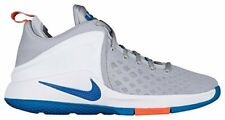 NIKE Mens Lebron Zoom Witness Basketball Shoes, Silver/White