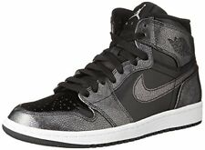 Nike Mens AIR JORDAN 1 RETRO HIGH, BLACK/BLACK-WHITE, 11.5