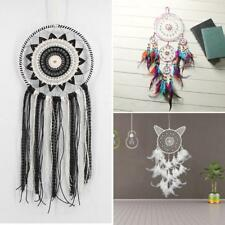 FH- Handmade Feathers Dream Catcher Car Wall Hanging Home Party Decor Ornament G