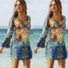 Women Swimwear Bikini Beach Wear Cover Up Kaftan Ladies Summer Short Mini Dress