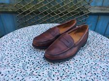 GRENSON - Brown Leather - Slip On - Penny Loafers - Size 8