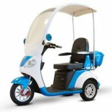 EWheels EW-44 Three-Wheel Electric Mobility Scooter with Canopy and Windshield