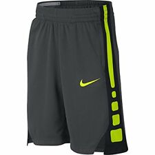 Nike Boy's Dry Basketball Short Anthracite/Black/Volt Size Small