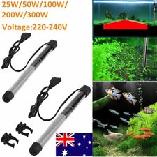 25-300w Stainless Steel Heater Heating Rod Safe For Aquarium Fish Water Tank AU@
