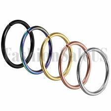 5pcs Jewelry Stainless Steel Nose Hoop Ring Earring Body Piercing Studs 8-12mm