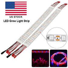 5Pcs 25W LED Grow Light Red Blue 5:1 Grow Strip Lights Hydroponic +DC12V Power