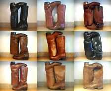 RARE! MEN'S FRYE OR DINGO OR GENESCO OR OLATHE CAMPUS HARNESS MOTORCYCLE BOOTS!