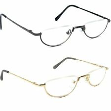Best Sell Half moon rim Vintage Spring Hinge Eyeglass Frames Reading Glasses